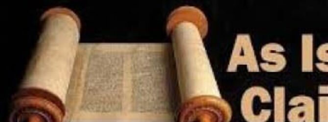 A TOTAL RESPONSE to the Muslims attack on the BIBLE….