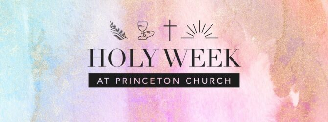 Holy Week 2020 Announcement