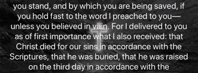 According to the true gospel. If it not CHRIST, DIED…