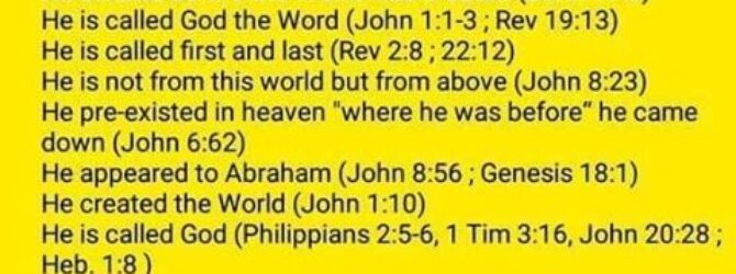 JESUS IS GOD, DEAL WITH IT! Jesus is God and…