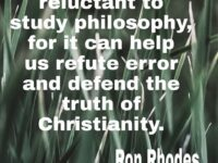 Can be Philosophy Helpful for a Christian? Personally my opinion…