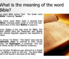 """Where does the word """"Bible"""" come from, and what does…"""