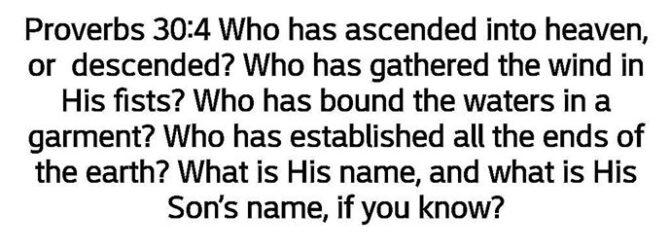 Do you know the Son's name, surely you do?!? Moreover…