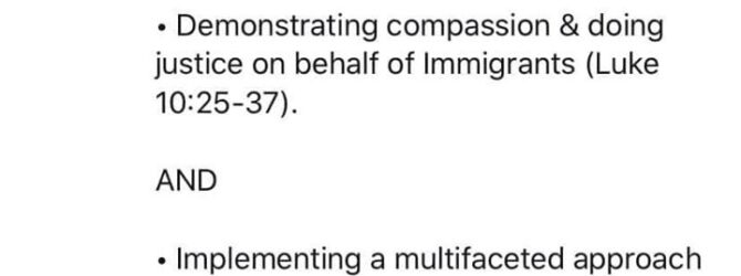 Thoughts? As Christians, shouldn't we be receptive to our immigrant…