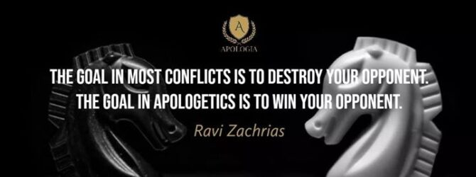 The ultimate goal of Apologetics which our dear brother Ravi…