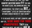 *WHY WE REJECT CONTEMPORARY CHRISTIAN MUSIC (CCM) IN A NUTSHELL*…