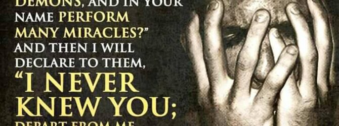 "Matt. 7:21-23 21 ""Not everyone who calls me Lord will…"