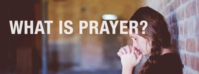 Prayer is a key factor in our walk with God….