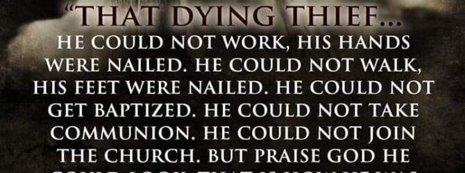 Luke 23:39-43 NASB [39] One of the criminals who were…