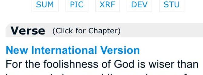 In what way(s) is God weak or foolish?