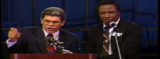 Victor M. Pagan Preaches at Centennial Church of God General Assembly—1986
