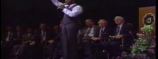 Wallace J. Sibley Preaches at Centennial Church of God General Assembly—1986