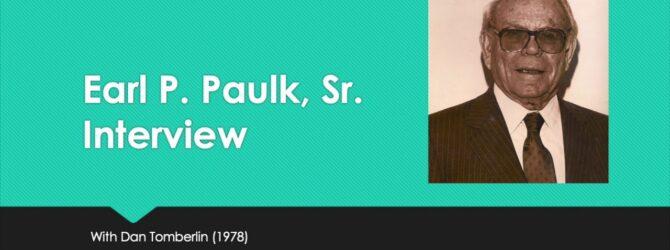 Interview of Earl Paulk Sr. by Dan Tomberlin