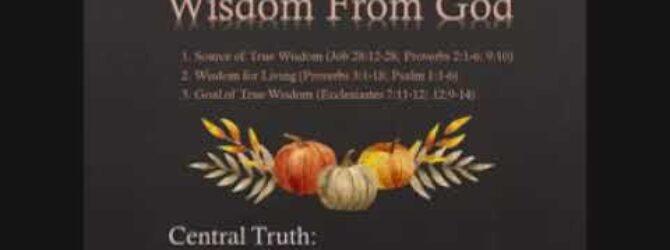 Sunday School Part 2 October 4th