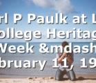 Earl P  Paulk at Lee College Heritage Week — February 11, 1977