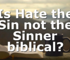 Is Hate the Sin not the Sinner biblical?