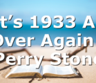 It's 1933 All Over Again | Perry Stone