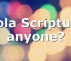 Sola Scriptura anyone?