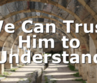 We Can Trust Him to Understand