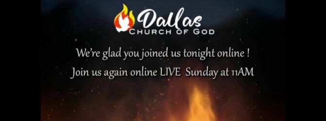 """The Christian's 3 Fold Relationship"" Pastor D. R. Shortridge Wednesday Evening Service 11/04/20"