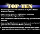 Top Ten List on Missions