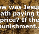 How was Jesus's death paying the price? If the punishment…