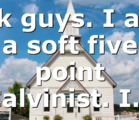Ok guys. I am a soft five point Calvinist. I…
