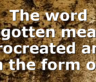 """The word begotten means procreated and """"in the form of…"""