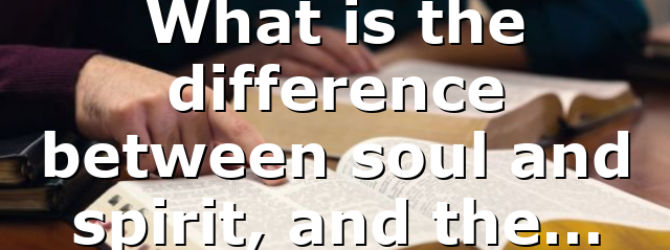What is the difference between soul and spirit, and the…