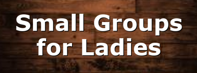 Small Groups for Ladies