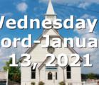 Wednesday's Word-January 13, 2021