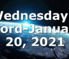 Wednesday's Word-January 20, 2021