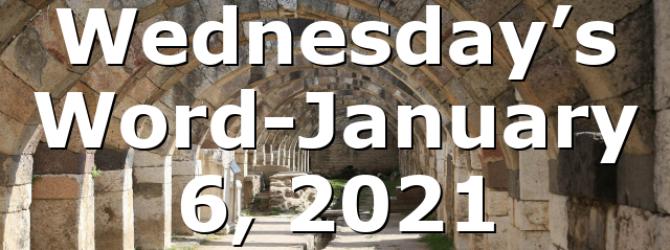 Wednesday's Word-January 6, 2021