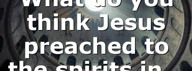 What do you think Jesus preached to the spirits in…