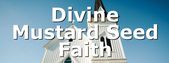 Divine Mustard Seed Faith