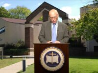 Dr. French Arrington Congratulates Dixon Pentecostal Research Center