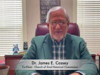 Dr. James E. Cossey Congratulates Dixon Pentecostal Research Center