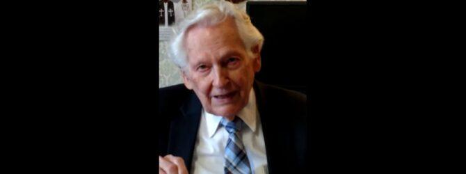 Dr.  James M  Beaty Congratulates Dixon Pentecostal Research Center