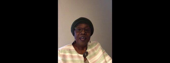 Rev. Phyllis Thompson Congratulates Dixon Pentecostal Research Center