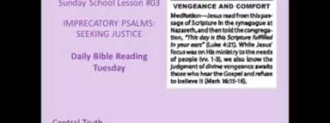 Sunday School Daily Bible Readings March 21st