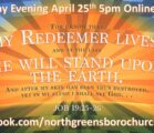 Sunday Evening April 25th